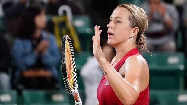 Павлюченкова снялась с турнира в Риме из-за травмы