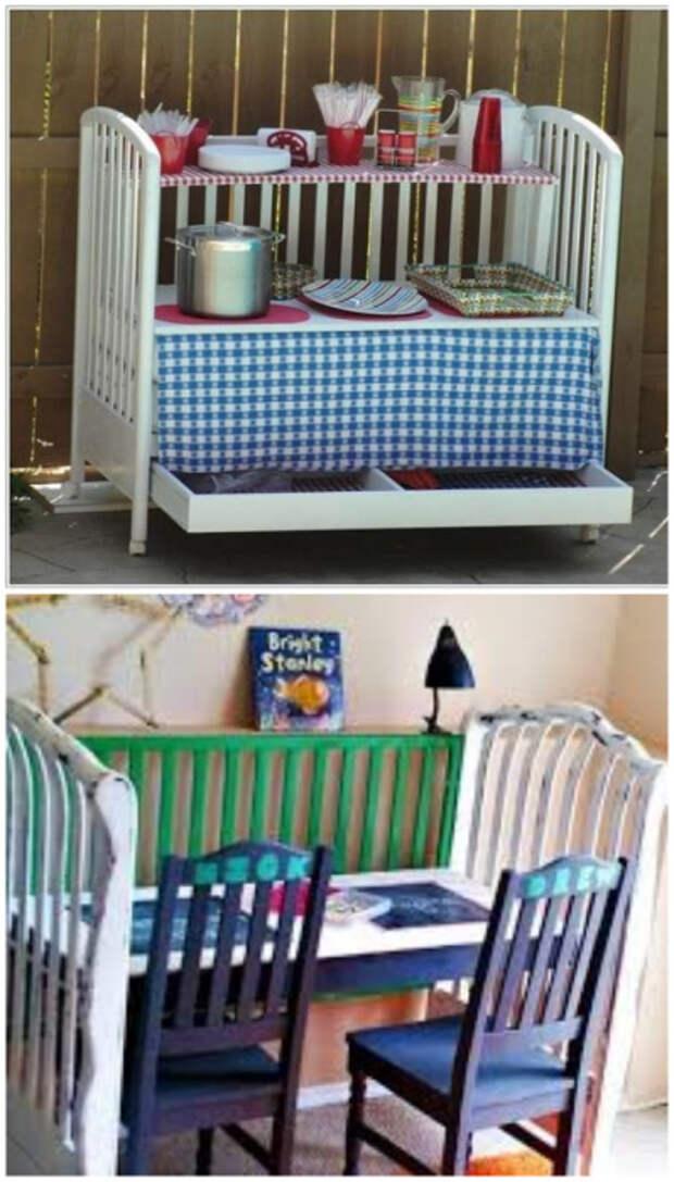 Детской кроватке тоже можно дать вторую жизнь, кардинально поменяв ее функционал.