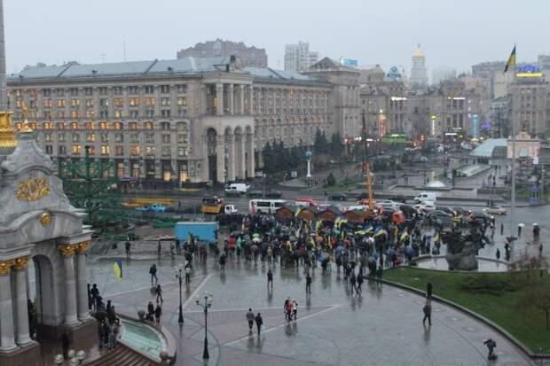 Пасмурное настроение на семилетие Майдана