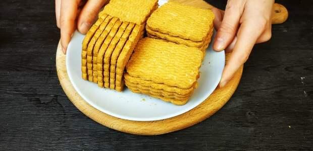 У меня про запас всегда есть пачка печенья: покажу, какое объедение за 5 минут с ним готовлю (быстрый десерт к чаю)