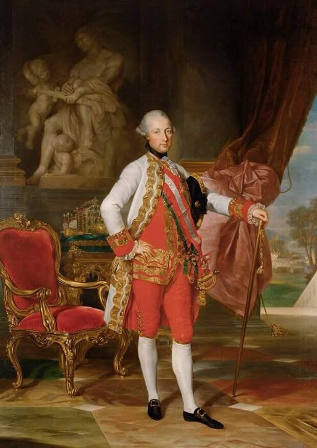 Император Иосиф II, Антон фон Марон. \ Фото: commons.wikimedia.org.