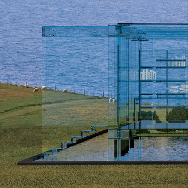 Прозрачный дом (9 фото)