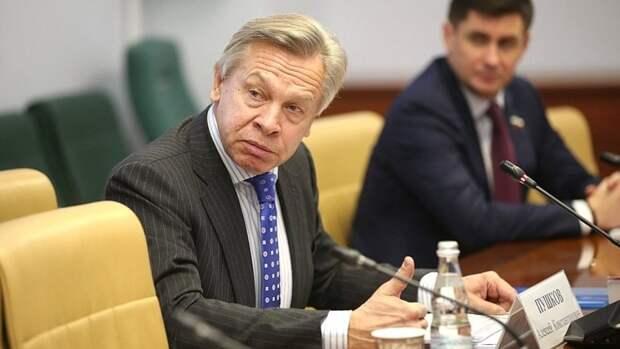 """Пушков раскритиковал Зеленского за слова о """"невозможности"""" Европы без Украины"""