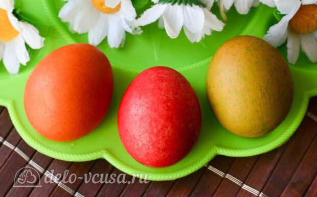 Как покрасить яйца рисом