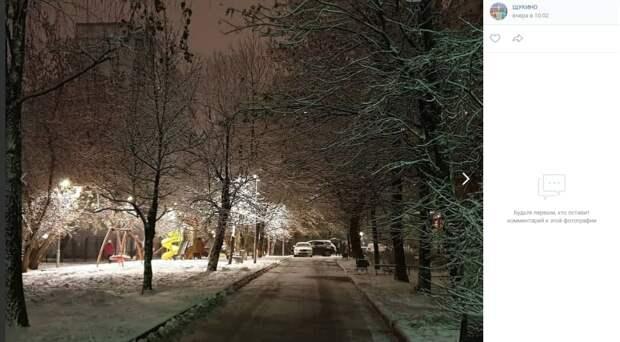 Фото дня: снег кружится, летает, летает…