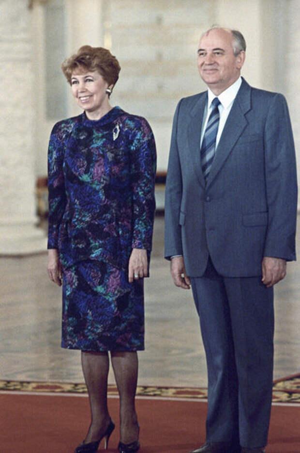 Горбачев с женой