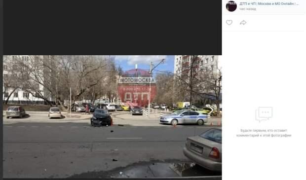 Мотоциклист пострадал в аварии на проспекте Маршала Жукова