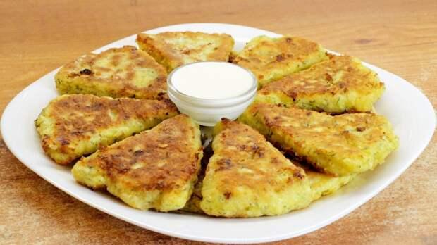 Сырные лепёшки на скорую руку - видео рецепт