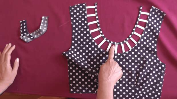 Оригинальное оформление выреза: нюансы пошива шаг за шагом