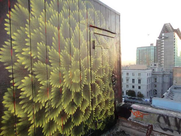 Американец создает завораживающий калейдоскопический стрит-арт. Вот это да!