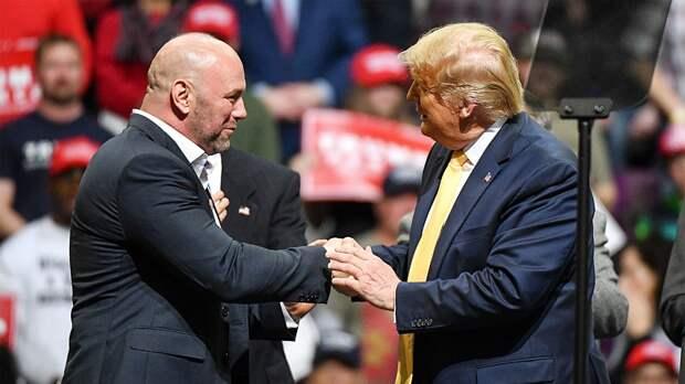 «Онбоец, онлюбит эту страну». Босс UFC Дэйна Уайт поддерживает Дональда Трампа