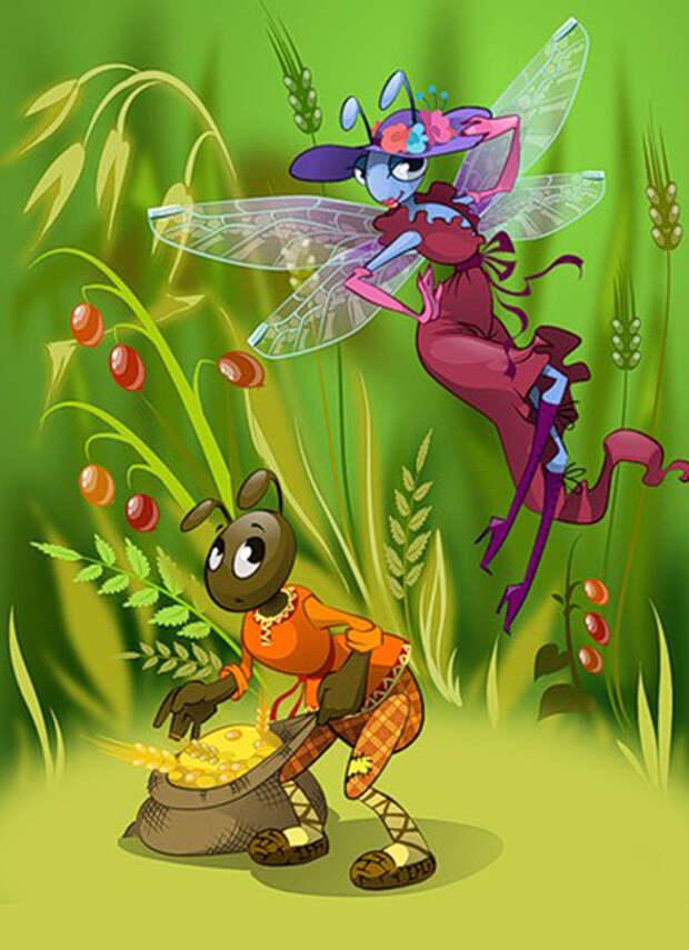 """Сочинение """"Стрекоза и муравей"""" — новый хит интернета!)))"""