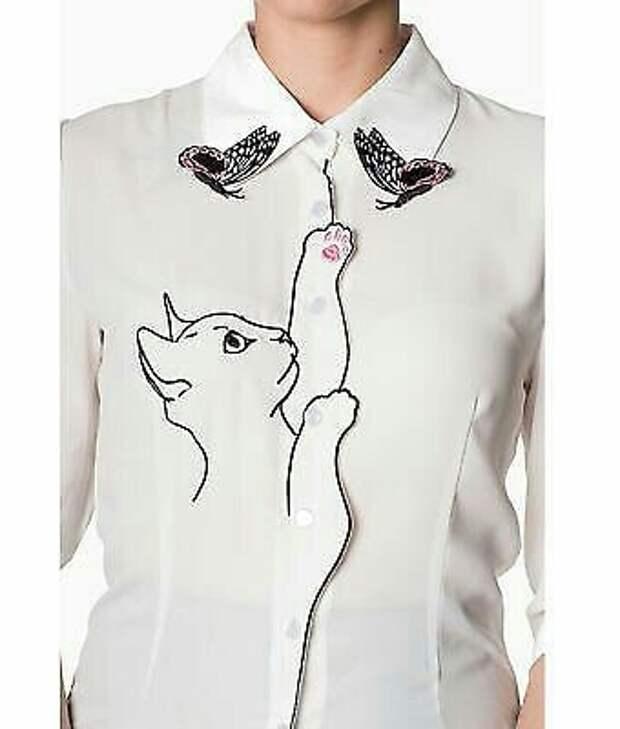 Милая блузка с кошкой