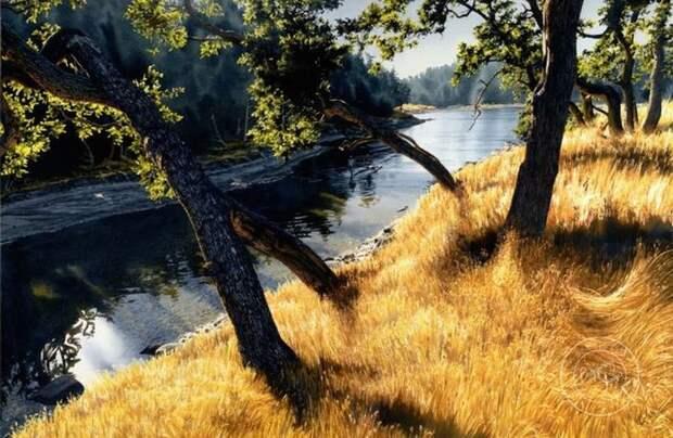 Акварельный реализм: удивительные пейзажи КэролЭванс