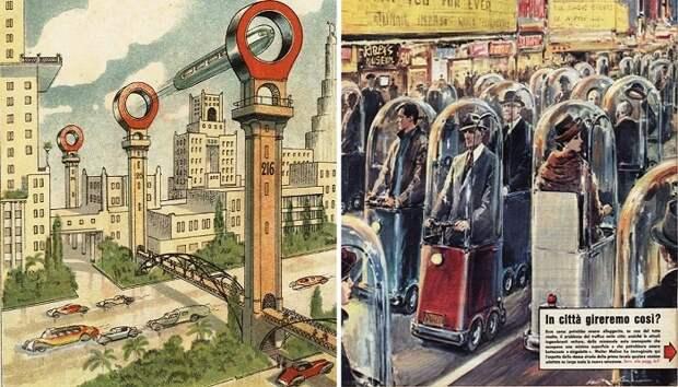 Таким люди видели транспорт будущего 100 лет назад.