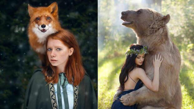 Волшебное единство животных и людей. 40 завораживающих снимков русского фотографа