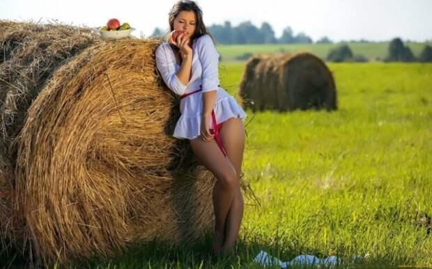 Симпатичные деревенские девушки