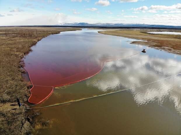 Государственные органы подсчитали ущерб природе Севера от разлива нефтепродуктов в Норильске