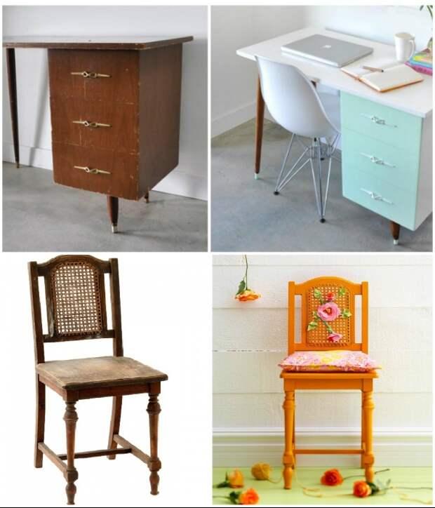 Старую советскую мебель без особых затрат можно сделать вполне современной. | Фото: ru.fenikssfun.com.
