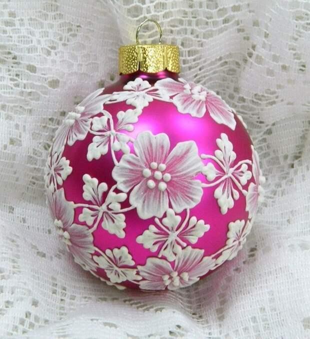 Новогодние расписные шарики. Красотища-то какая!