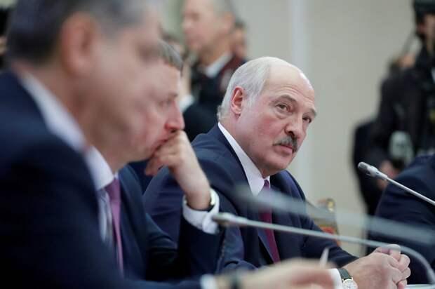 Президент Беларуси Лукашенко на переговорах