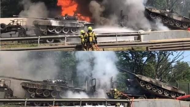 В Польше сгорели два танка после масштабных военных учений