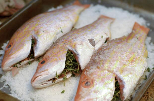 Засыпали рыбу солью и в духовку: весь сок остается внутри