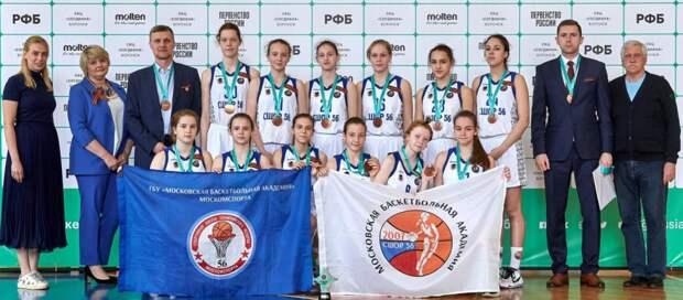 Юные баскетболистки из Хорошевки стали бронзовыми призерами Первенства России