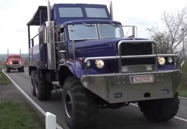 Автопробег грузовых автомобилей марки КрАЗ в Германии авто, автомобили, видео, германия, грузовик, краз