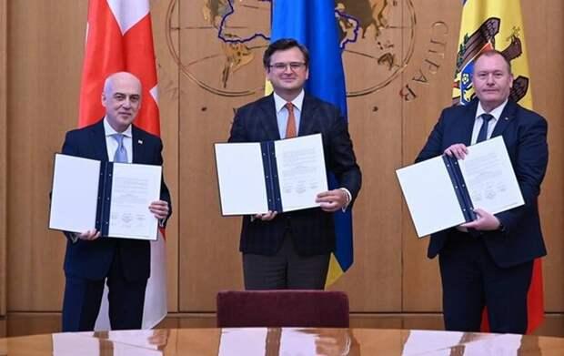 «Ассоциированное трио»: Украина, Грузия и Молдова договорились вместе стремиться в ЕС