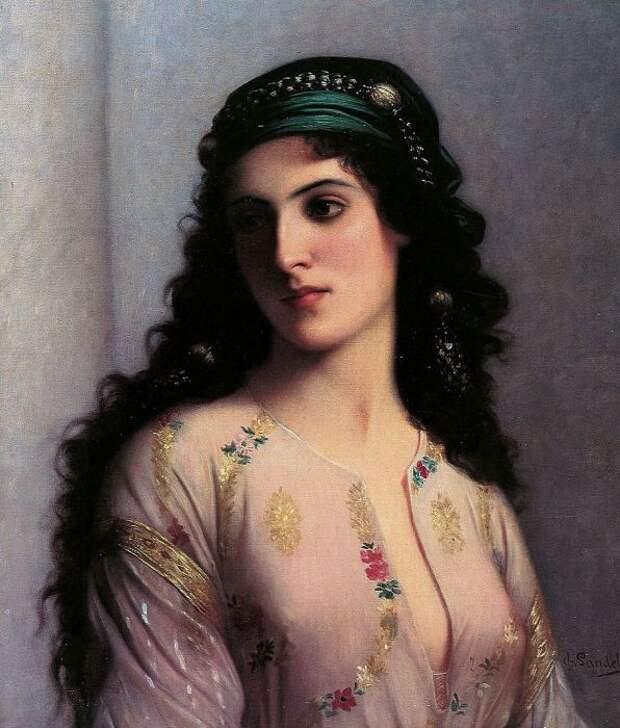 Еврейская девушка из Танжера (A Jewish Girl of Tangiers), Чарльз Ландель (Charles Landelle).
