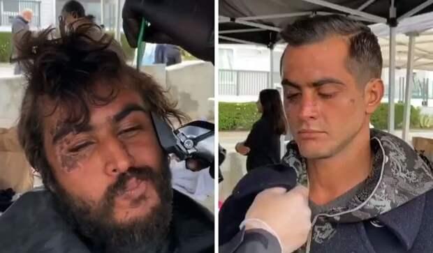 Добрый парикмахер помогает бездомным обрести второй шанс