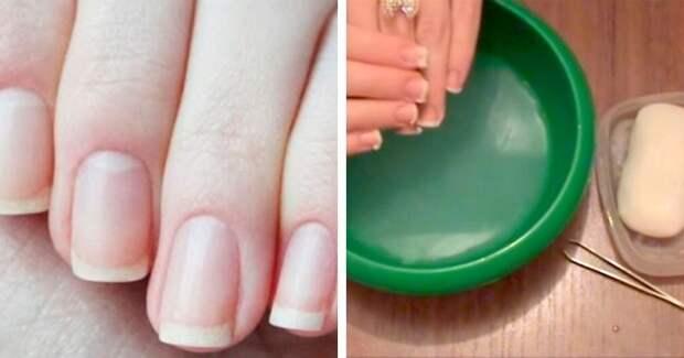 Пятиминутный способ отбелить ногти в домашних условиях