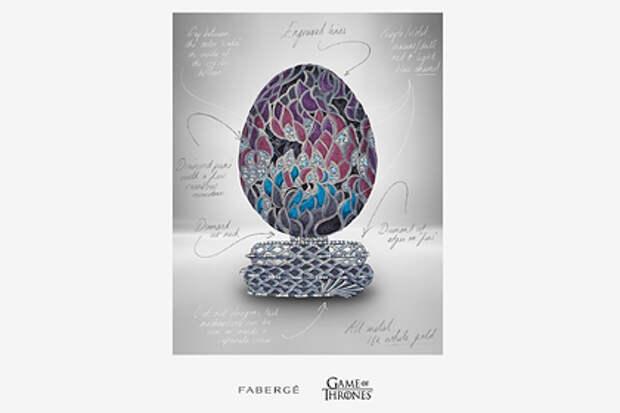 Фаберже создаст яйцо к десятилетию «Игры престолов» за миллионы долларов