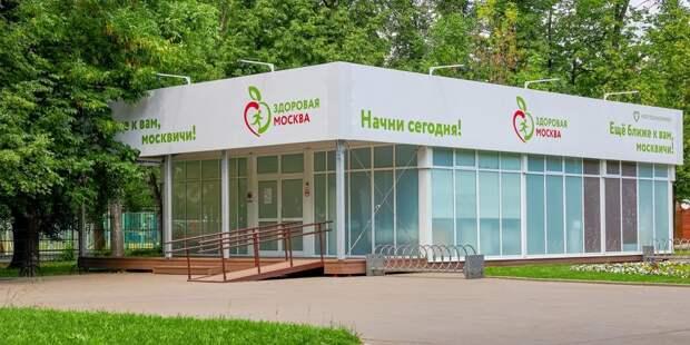 В павильоне «Здоровая Москва» в сквере на бульваре Генерала Карбышева анкету разрешили заполнять заранее