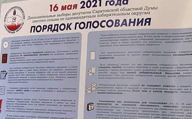 Опубликованы предварительные итоги выборов в Саратовскую облдуму