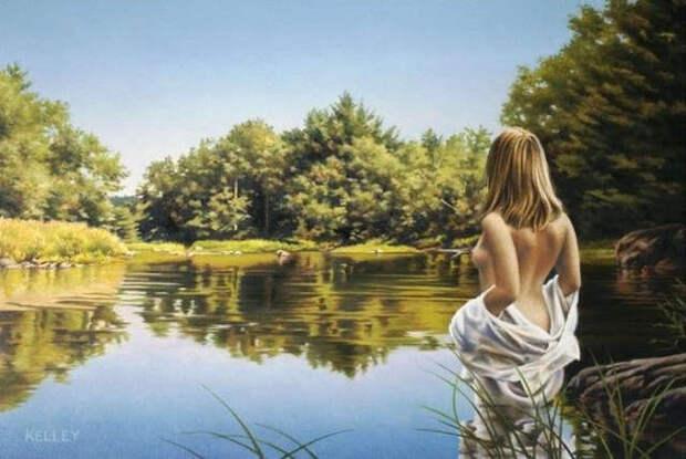 Обнаженная натура в изобразительном искусстве разных стран. Часть 55.
