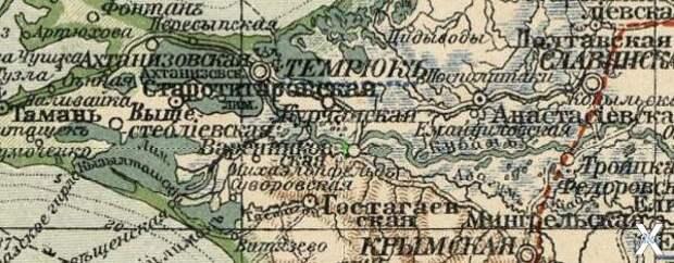 Карта 1909 года