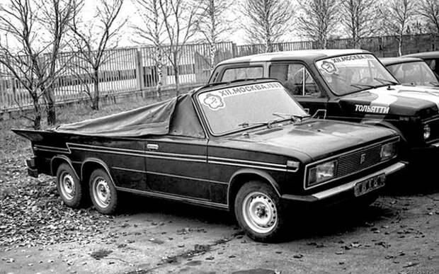 Трехосный кабриолет на базе ВАЗ-2103