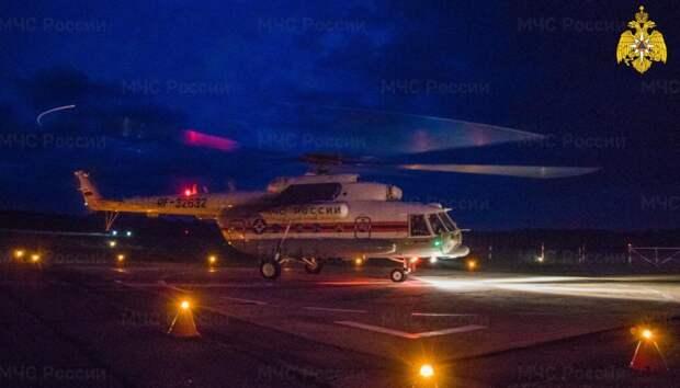 Вертолет санавиации доставил в Тверь пациентку Осташковской ЦРБ