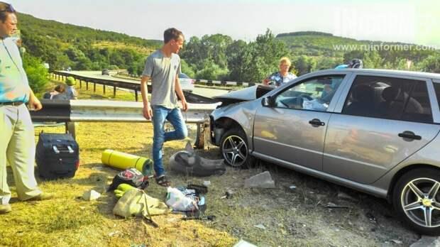 ДТП в Севастополе: после столкновения автомобилей на развязке госпитализирован 5-летний мальчик