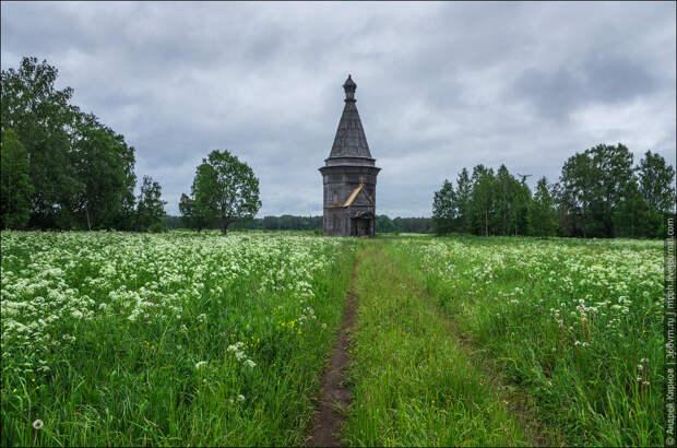 Церковь в уже не существующей деревне Красная Ляга