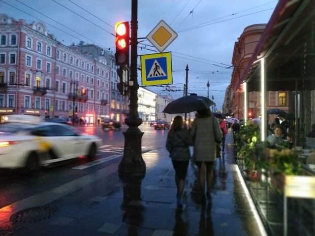 Дождь и похолодание ожидаются с 21 апреля в Санкт-Петербурге
