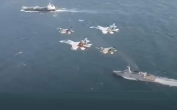 Попытка захвата США иранского нефтяного танкера обломалась после взлета Су-30