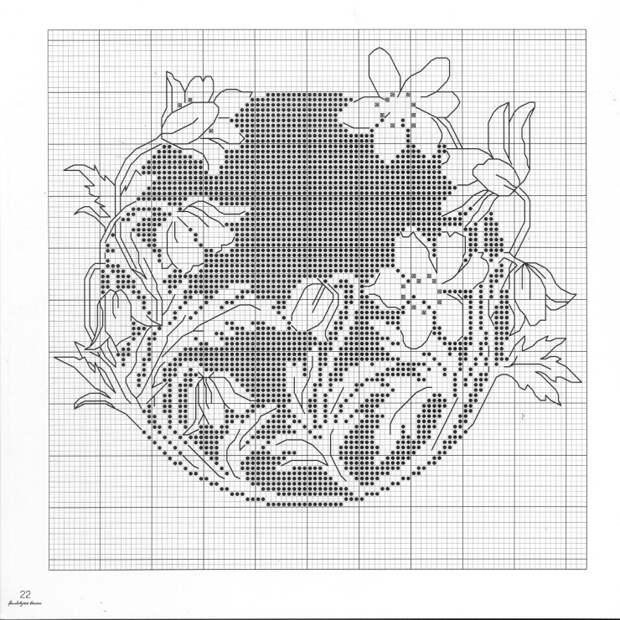 ВЫШИВАЙКА. Цветы- монохром