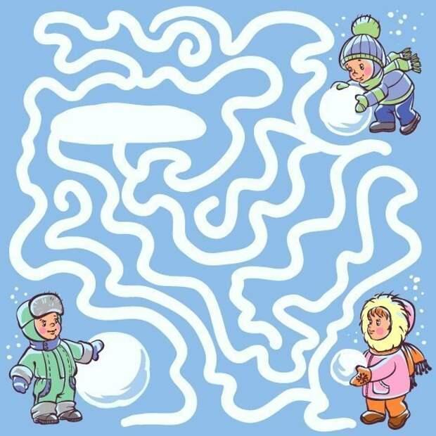 Детский мир. Зимние лабиринты