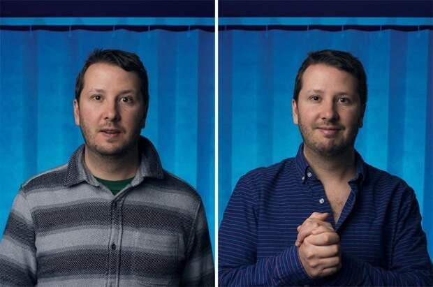 Фотограф запечатлел эмоции мужчин до и после того как они стали новоиспечёнными отцами