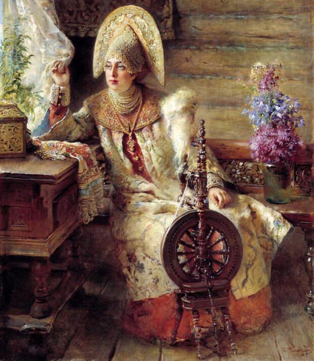 Русская женщина всегда в хлопотах да приготовлениях./Фото: mylitta.ru