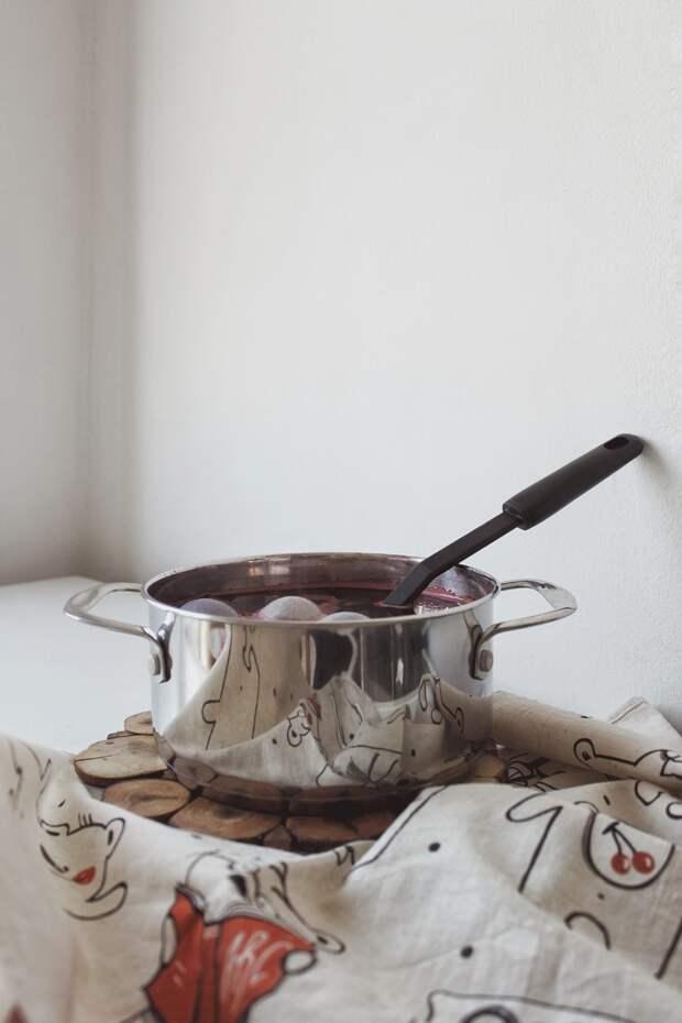 Каркаде можно не только пить: необычная и красивая идея к Пасхе