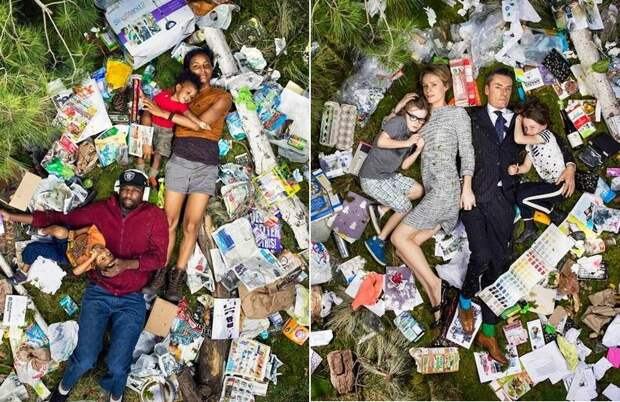 Шокирующие фото: сколько мусора производит человек всего за неделю